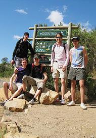 Hauptstadtläufer vor dem Tafelberg-Aufstieg