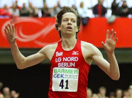 Carsten Schlangen Deutscher Meister über 3.000m bei den Deutschen Hallenmeisterschaften in Dortmund