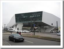 Porschemuseum Stuttgart Frontansicht