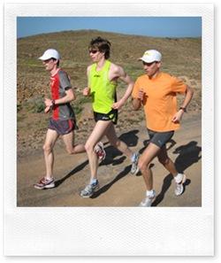 Hauptstadtläufer Carsten Schlangen, Kai-Markus Kirchner und Falko Zauber im Trainingslager Lanzarote