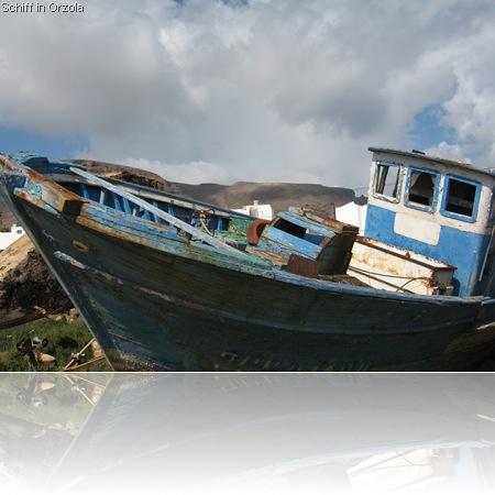 Schiff in Orzola Lanzarote
