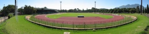 Stadion in Stellenbosch mit Leichtathletikbahn